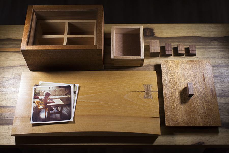 קופסת תכשיטים עם תמונות